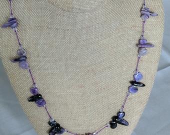 Genuine Charoite Necklace