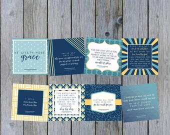 KJV Scripture Cards for Encouragement Truth Squares
