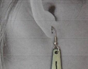 enamel on copper hook earrings