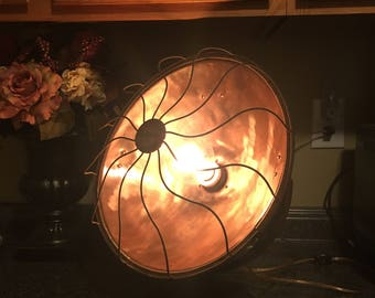 1920's Fedelco heat lamp updated to be a now safe to use desktop lamp