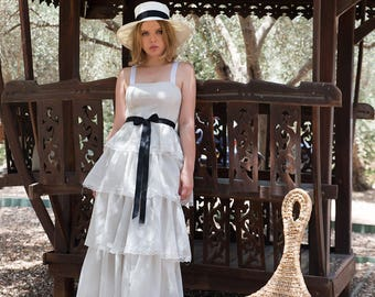 BOHEMIAN wedding dress, unique wedding dress, beach wedding dress, boho wedding dress Size S/M