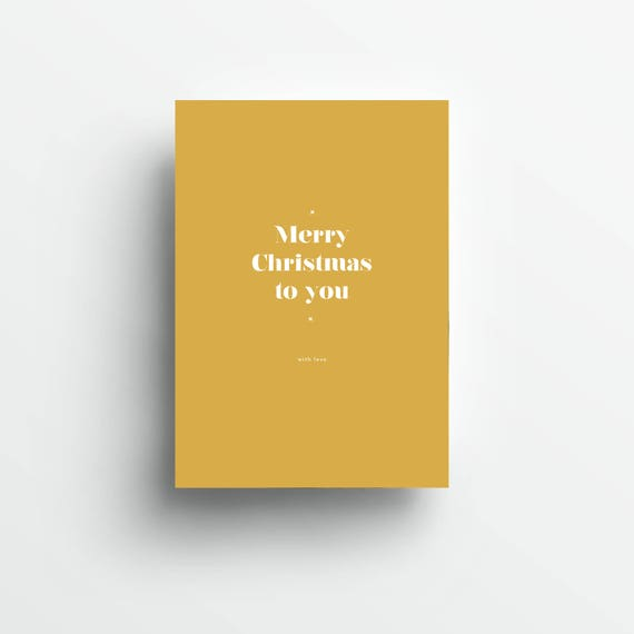 moderne Grußkarte Weihnachten, gold/weiß   |   modern greeting card Christmas, gold/white