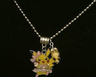Handmade Girl Pika Pendant Necklace and Charm