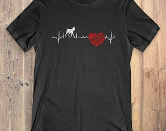 German Wirehaired Pointer Dog T-Shirt Gift: German Wirehaired Pointer Heartbeat