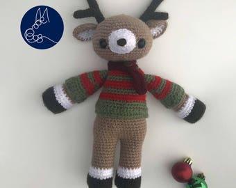 Rolfe The Reindeer - Christmas Amigurumi Crochet Pattern