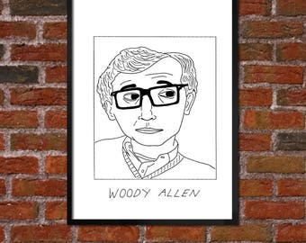 Badly Drawn Woody Allen - Film / Movie / Cinema Poster - *** BUY 4, GET A 5th FREE***