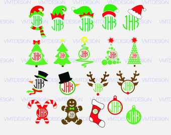 Merry christmas monogram svg - Merry christmas svg - Merry christmas clipart- Merry christmas monogram file download svg, png, eps, jpg
