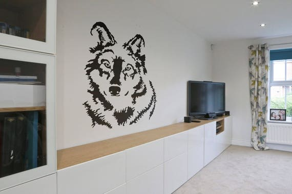 Looking Wolf - Wall decals for magical minds, Many colors and Sizes available, Mystic collection, Looking Wolf Watcher, Big Bad Wolf