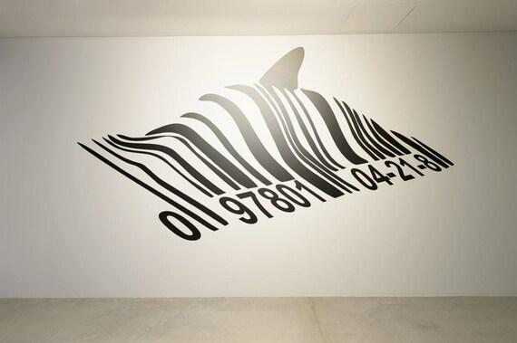 Banksy Barcode Dolphin Wall Decal Sticker, Street art, artist, graffiti, stencil, urban, walls, wallart, spray, paint, stencil, wall porn