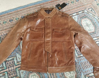 Brown Leather Jacket - Men's