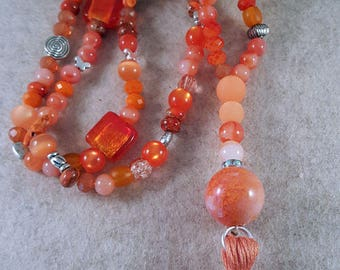 Fantastic XL-Necklace in orange