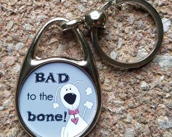 Bad to the Bone Keychain