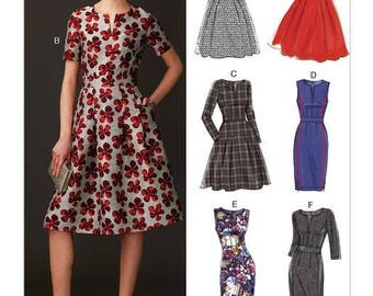 Dress sewing pattern Vogue easy Customfit V9267