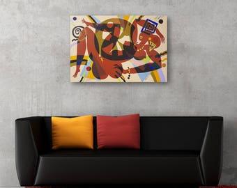 Erotic Art Acrylic on Canvas Art Painting Acrylic Painting Abstract Painting Wall Art Original Painting  Abstract Acrylic Painting Art