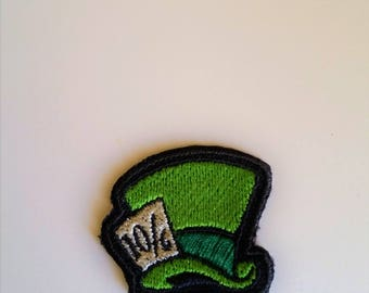 Disney Inspired Mad Hatter Hat Patch, Iron or Sew on TINY