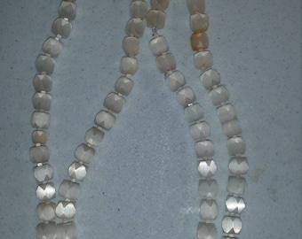 Block beaded vintage necklace