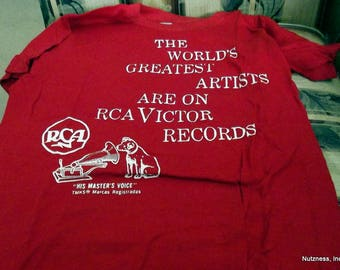 Vintage 1970's RCA Records Promotional T-Shirt -- Never Worn