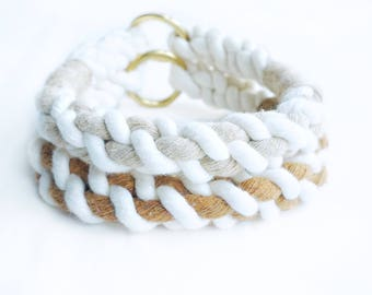 Neutral Collection Cable Nautical Rope Dog Collar