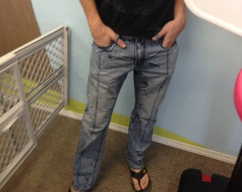 Hand painted comic pants
