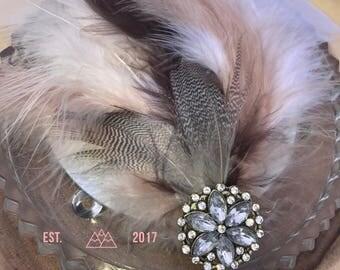 Bridal Feather Headpiece
