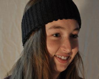 Black knit headband