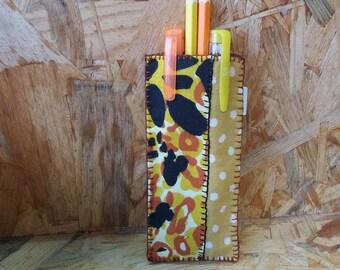 Leopard pen case
