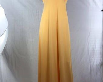 Infinity Brand Yellow Spaghetti Straps Maxi Dress
