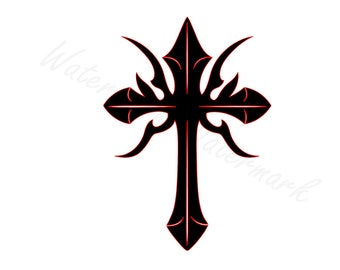 Tribal Cross SVG and Studio 3 Cut File Cutouts Files Logo Stencil for Silhouette Studio Cricut Brother SVGS Cutouts Decals Decal Religious
