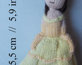 Belle knitted doll