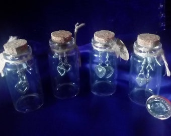 Charming Gift 'Made with Love' Earrings in a Jar