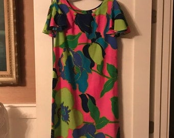 Vintage Hawaiian Floral Dress from Sears