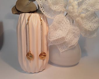 Earrings prints and chain