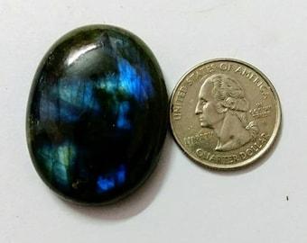38.16 x 29.10 mm,Oval Shape Labradorite Cobochon/Blue Flash/wire wrap stone/Super Shiny/ Spectrolite Cabochon/Semi Precious Gemstone/labra