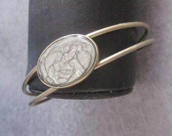 Bracelet bronzes cabochon metal painting