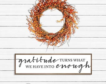 Gratitude DIY Sign, Farmhouse, Thanksgiving, Instant Download, PRINTABLE, SVG