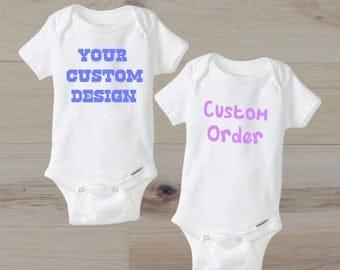 Custom baby onesie etsy custom baby onesie monogram onesie custom onesie personalized baby gift baby girl negle Image collections