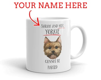 Yorkie Gift - Personalized Yorkie Mug - Gift For Yorkshire Terrier Lovers - Yorkie Mom - Yorkie Dad - Dog Lover Gift