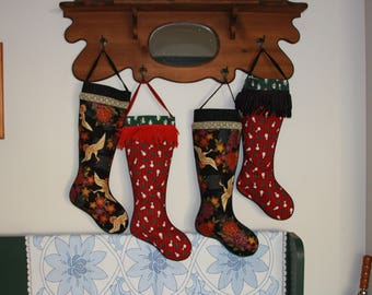 Extra Long Stockings, Oriental Cranes and Santas and Christmas Trees