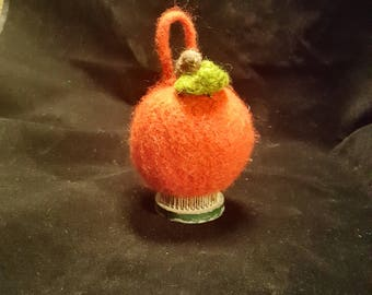 Felted Ornament--Apple