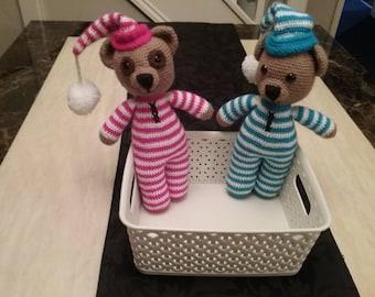 Wee Willy Winkee crochet teddy