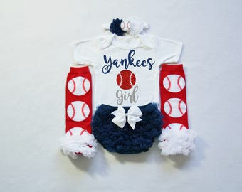 86ec10c97 ... new york yankees baby girl outfit - baby girl yankees outfit - girls  yankees baseball outfit ...