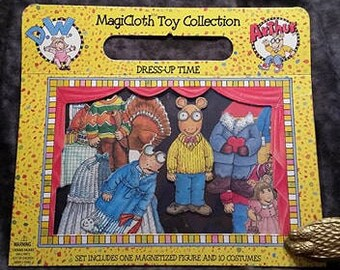 MagiCloth Toy Collection Arthur/ Arthur Read Magnet/ Cloth Paper Doll/ Dress Up