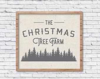 Christmas Tree Farm SVG, Christmas Tree Farm Sign, Rustic Cuttable, Modern Farmhouse, Vector, DXF, Print, Joanna Gaines, Magnolia Farms