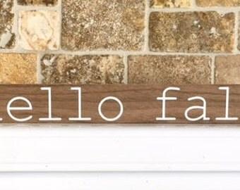 hello fall block sign