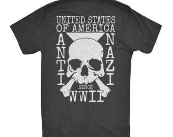 Anti Nazi Painfully Conscious American Patriotic Skull Comfortable Woke Third Eye Apparel