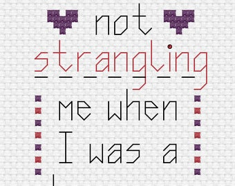 Funny Cross Stitch Pattern - Mother's Day - Father's Day - Card Making