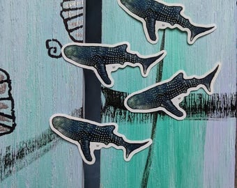 Stickers! 4Pk Whale Shark Stickers!