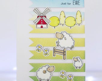 Handmad Card - Just For Ewe - MFT Ewe Are The Best
