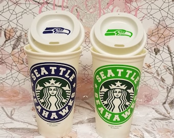Seattle Seahawks Starbucks Re-usable Cup