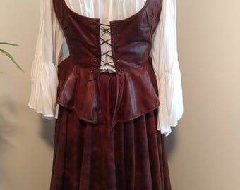Renaissance maiden vest and skirt